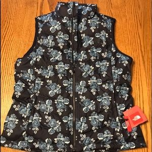 The North Face Floral Navy Vest